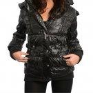 Puffer Faux Fur Trim Hoodie Jacket Coat