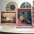 Set of 2 BALLERINA Pink Framed Art Print Girl's Room Decor