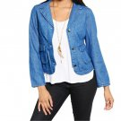 Denim Pocket Blazer Jacket