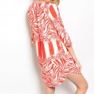 Zebra Stripe Tunic beach Cover-Up