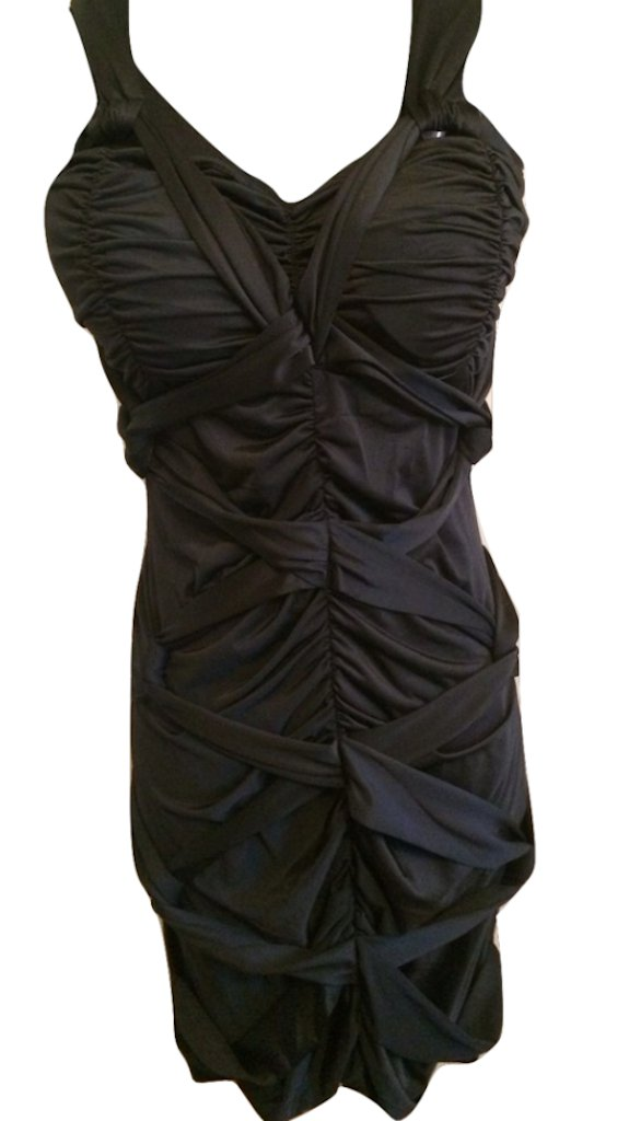 Twist Knot Ruched Jersey Cocktail Dress