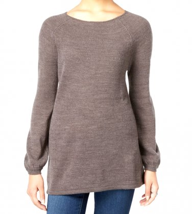 Petite Boat-Neck Swing Sweater
