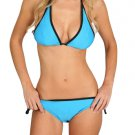 Sporty Trim Halter Bathing Suit String Bikini