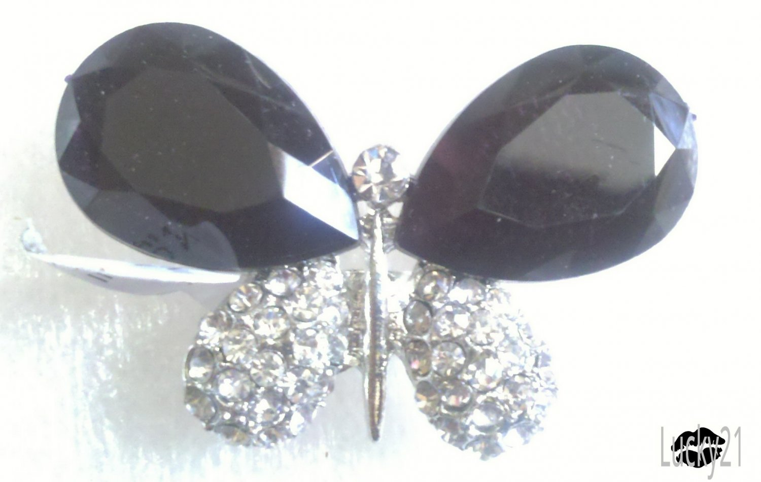 Black Butterfly Ring