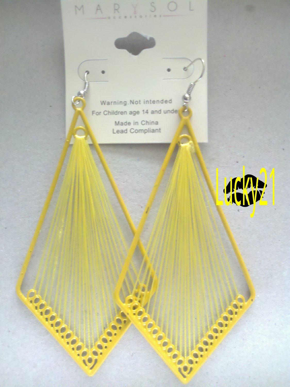 MarYsol Threaded Diamond Earrings (Yellow)