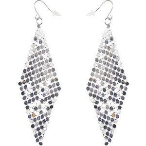 Mesh Dangling Earrings (Silver)