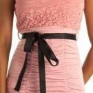Pink Cute Corset Tube Top w Sash (Small)