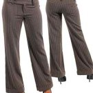 Brown Pinstripe Dress Pants (small)