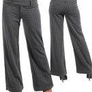 Grey Pinstripe Dress Pants (small)