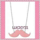 Pink Mustache (BC) Necklace