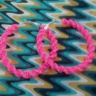 Strawberry Cobra Twist Gimp Hoop Earring (pink)