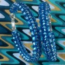 Blueberry Holo Gimp Hoop Earring (blue)