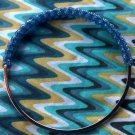 Blueberry Holo Gimp bangle bracelet (blue)