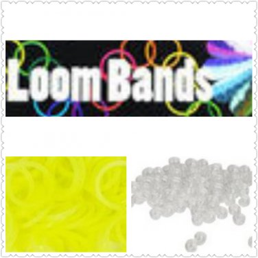 Glow in the Dark Loom Bands Rubber bands (yellow)