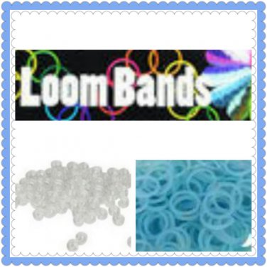 Glow in the Dark Loom Bands Rubber bands (blue)