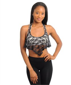 Lace teardrop Crop top (large)