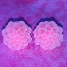 Handmade peach floral post earrings