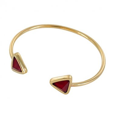 Geometric Triangle End Metal Cuff Bracelet