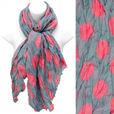 Polka Dot Design Wide Scarf/Pareo