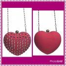 HEART STUDDED CLUTCH PURSE (pink)