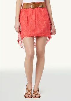 Lace Belted high-low Skirt (medium)