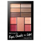 Revlon Eyes-Cheeks-+ Lips Palette .5 oz, 100 Romantic Nudes