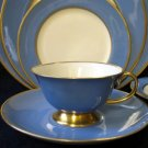 Flintridge China Sylvan Blue Gold Cup & Saucer