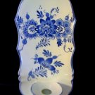 Blue Onion Wall Pocket Candle Holder Vase