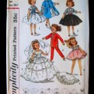 Vtg Doll Clothing Pattern Little Miss Revlon Ginger