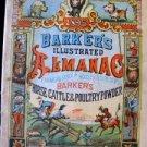 1895 Barker's Illus. Almanac Comics Recipes Medicine