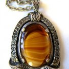 Vintage Scottish Agate Celtic Pendant by Miracle 2""
