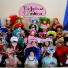 25 Danbury Mint Fashion Ladies Doll Xmas Ornaments Set