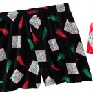 Tabasco Pepper Sauce Boxers Sleep Shorts Men's M NEW