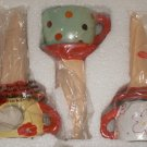 Tea Cup Plant Watering Stakes Set of 3 NEW