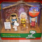Peanuts Christmas Mini Nativity Figure Set NEW