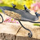 Metal Leaf Tabletop Birdfeeder NEW