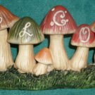 Welcome Mushrooms Yard Garden Tabletop Decor NEW
