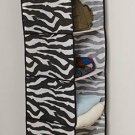 Zebra Animal Print 6 Shelf Hanging Shoe Storage Organizer Bag NEW