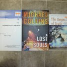Michael Collins Lot of 3 pb HC novels books Resurrectionists/Lost Souls/Keepers of Truth