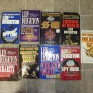 Len Deighton Lot of 9 pb Spy Thriller novels books
