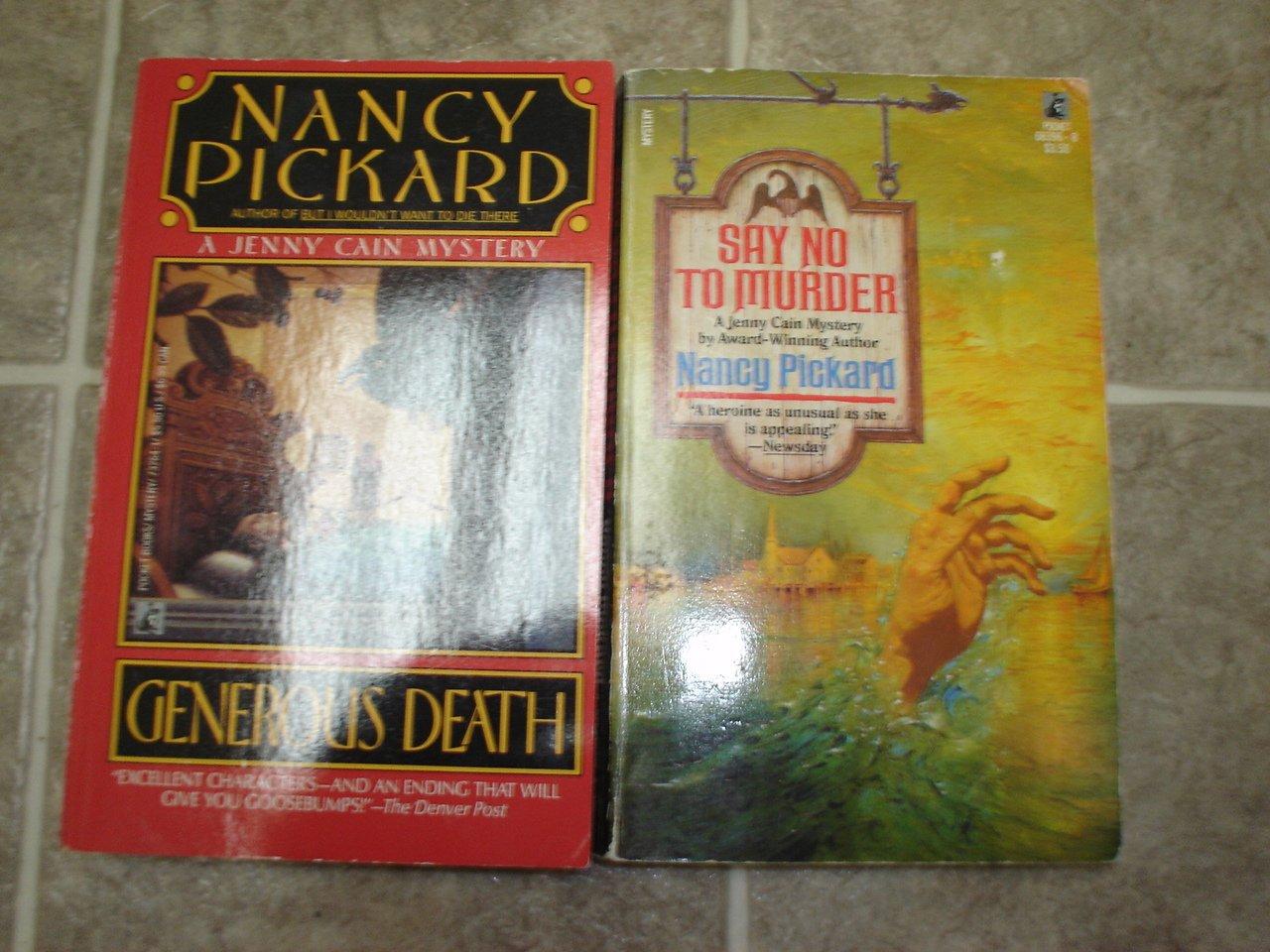 Nancy Pickard Lot of 2 pb mystery books cozy Jenny Cain