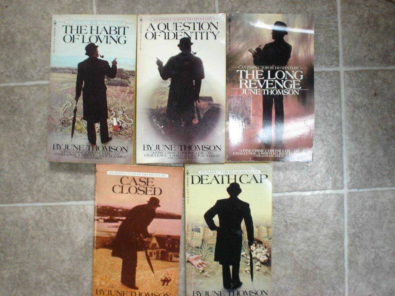 June Thomson lot of 5 pb mystery novels Inspector Rudd