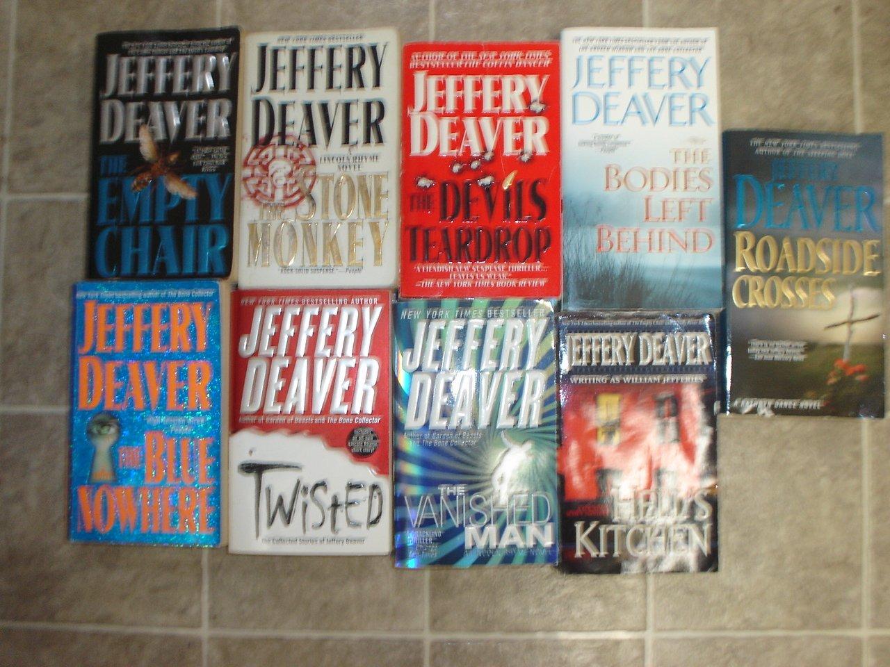 Jeffery Deaver lot of 10 pb mystery novels books