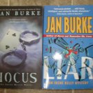Jan Burke lot of 2 pb mystery books Irene Kelly