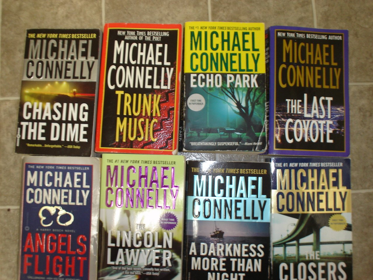 Michael Connelly lot of 8 pb mystery novels books hardboiled