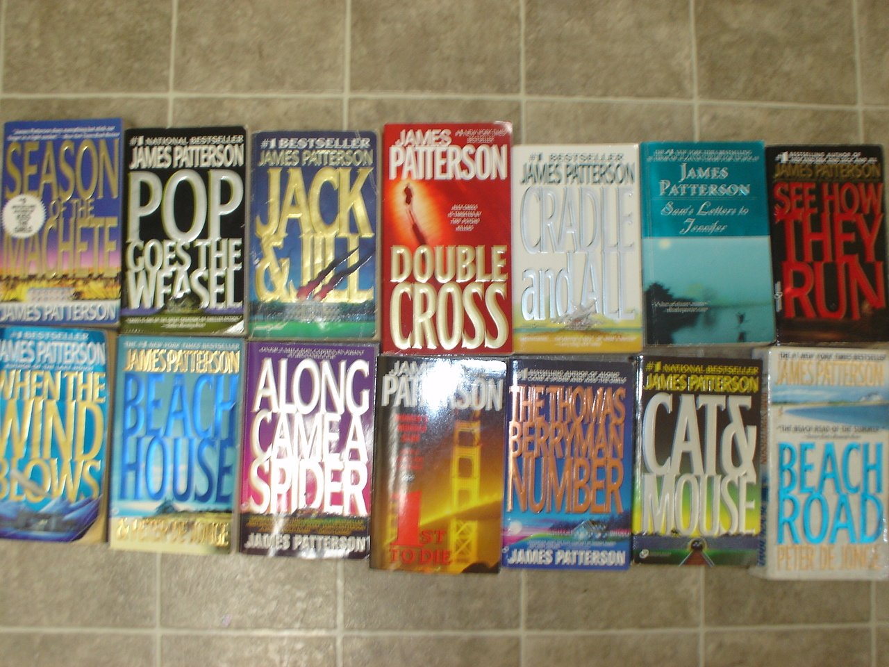 James Patterson lot of 14 pb mystery thriller novels books