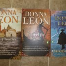Donna Leon lot of 4 pb mystery novels books Venice Guido Brunetti Italy