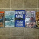 Elizabeth George lot of 5 pb mystery books novels British