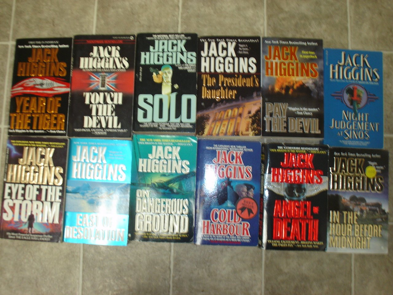 Jack Higgins lot of 12 pb thriller suspense novels books