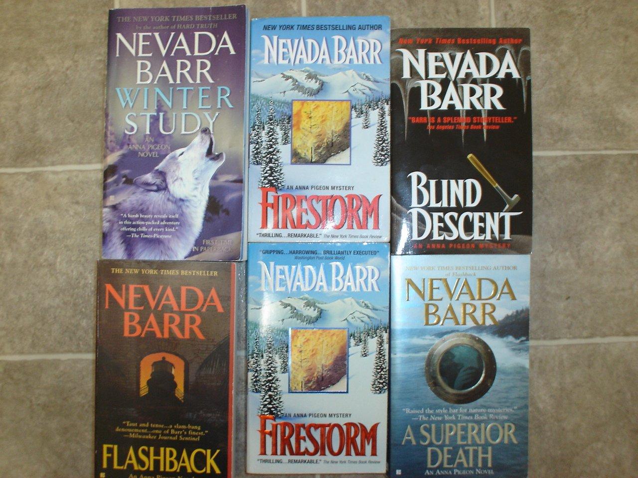 Nevada Barr lot of 5 pb mystery books Anna Pigeon
